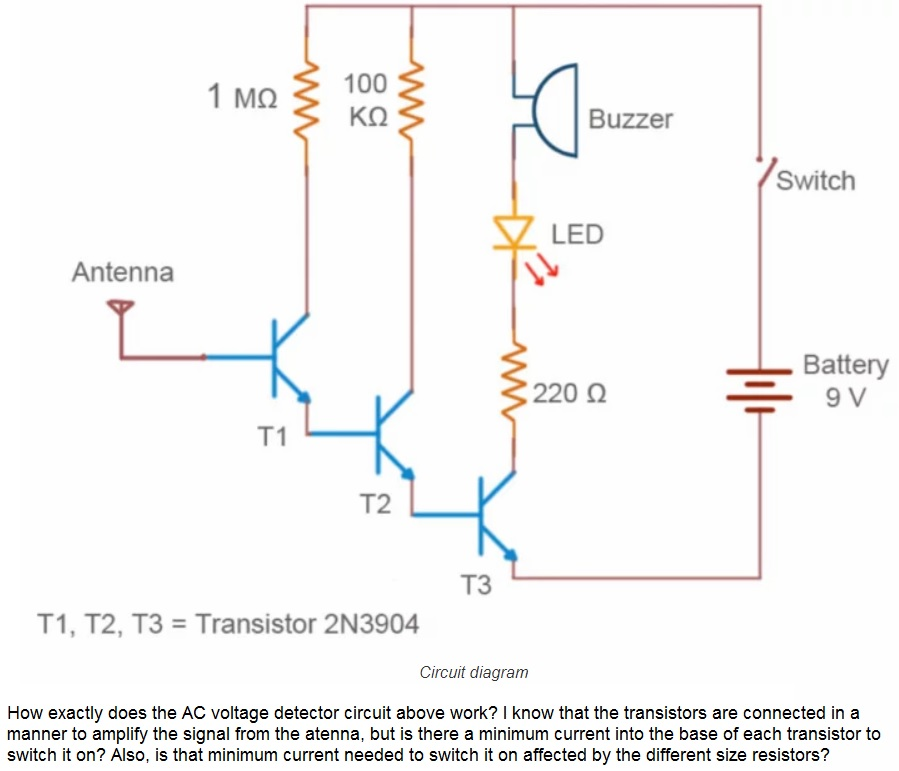 1 Mo 100 Buzzer Switch LED Antenna Battery 220 Ω T... | Chegg.com