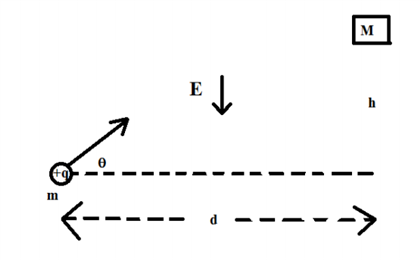 A particle of charge +q and mass m is shot from re
