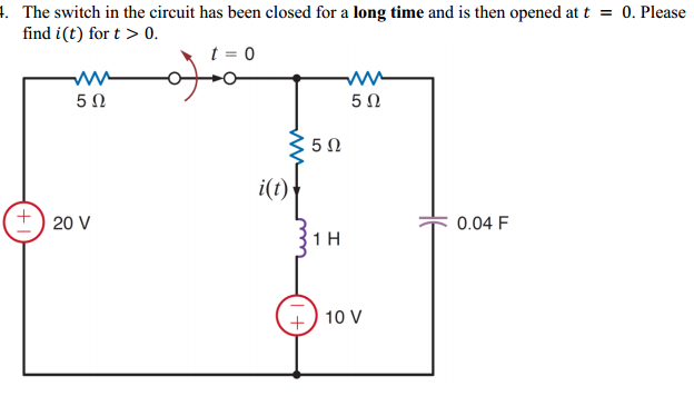 The switch in the circuit has been closed for a lo