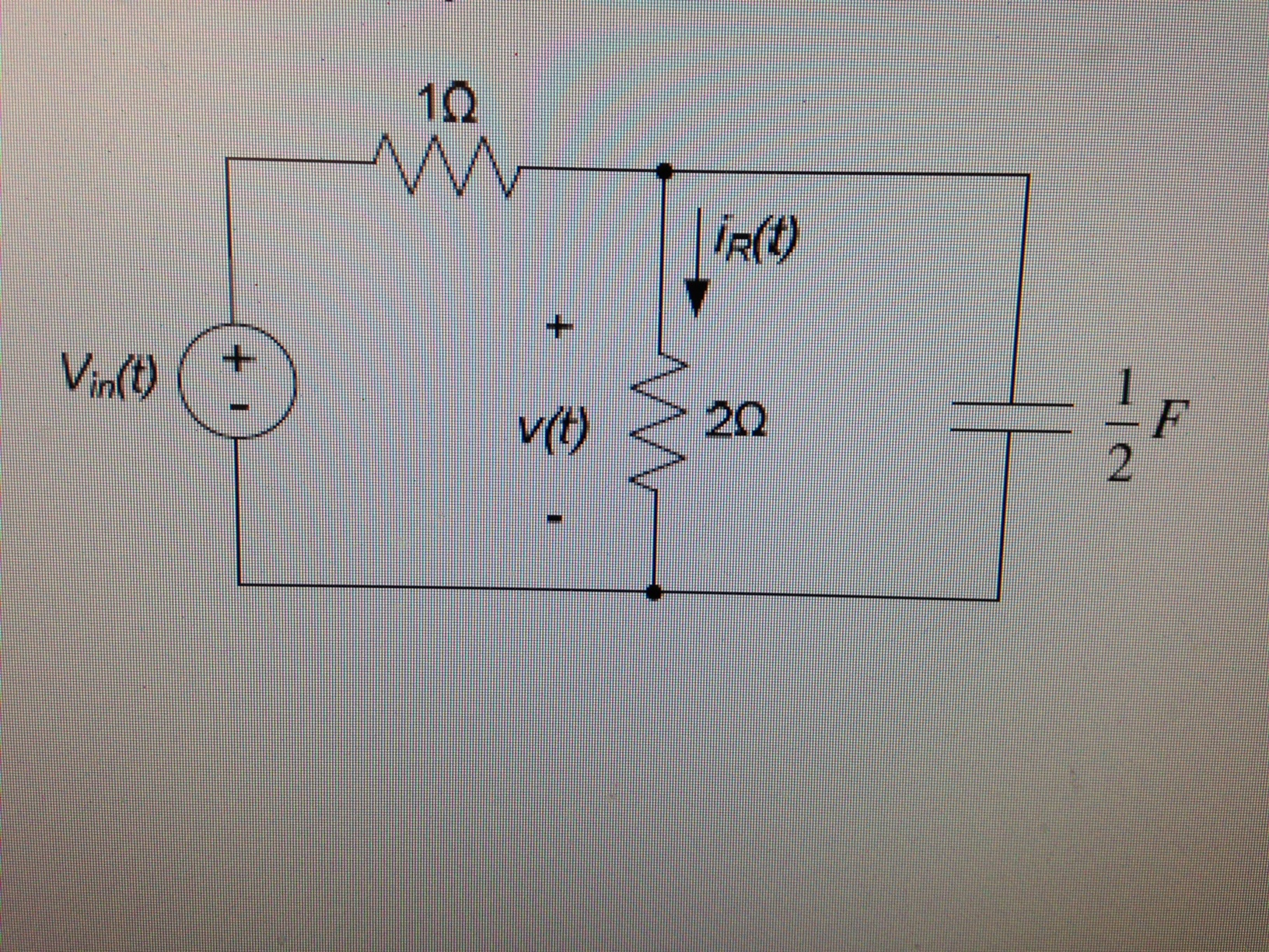 For the circuit below, sketch the magnitude and ph