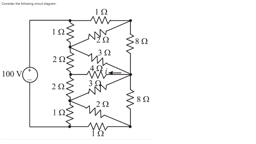 Consider the following circuit diagram: