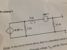 Given: Inthe circuit shown above, there is a dep
