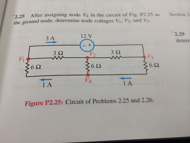 After assigning node V4 in the circuit of Fig. P2.
