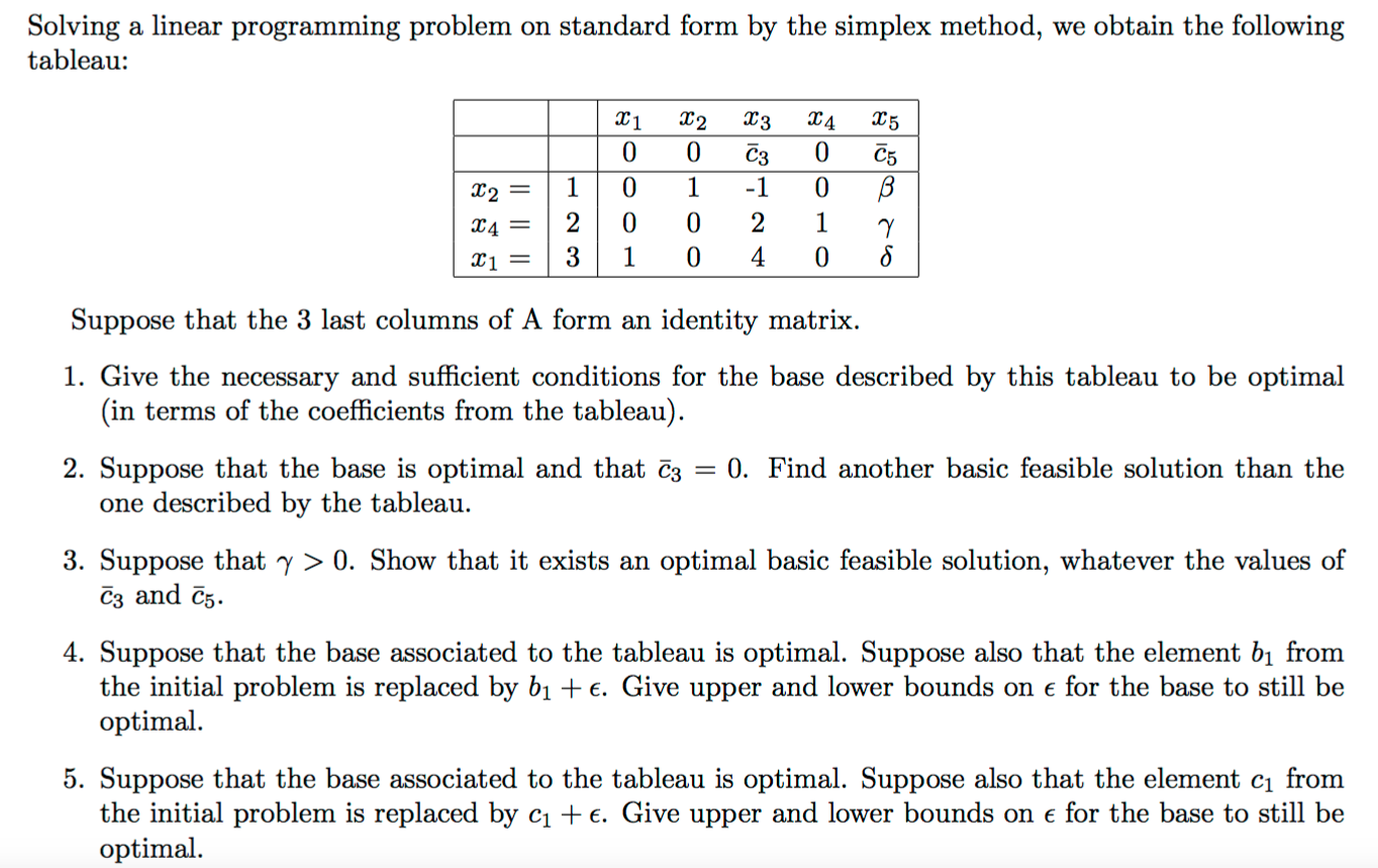 Solving a linear programming problem on standard f chegg question solving a linear programming problem on standard form by the simplex method we obtain the follow falaconquin