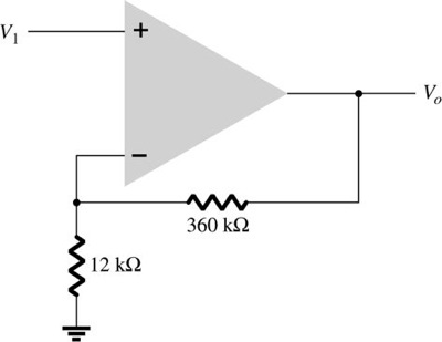 What output voltage results in the circuit of Fig.