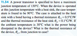 A power transistor is specified to have a maximum