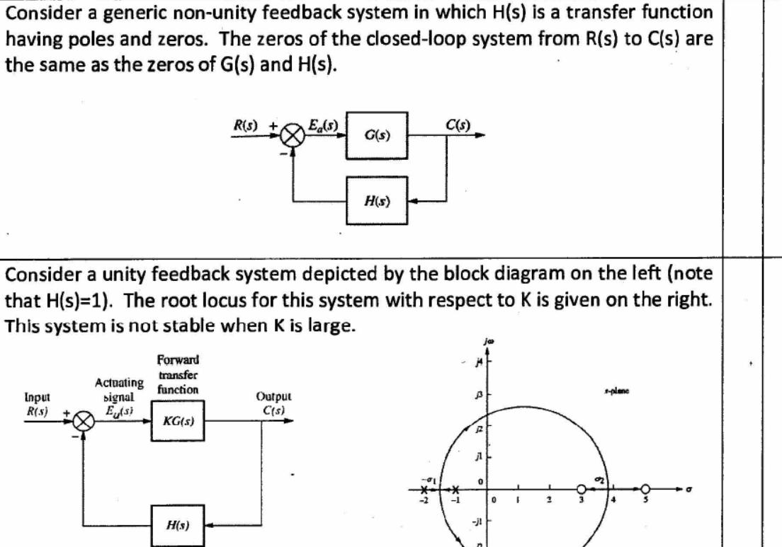 Consider a generic non unity feedback system in wh chegg true or false consider a generic non unity feedback system in wh ccuart Gallery