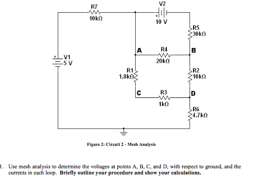 Figure 2: Circuit 2 - Meth Analysis Use mesh anal