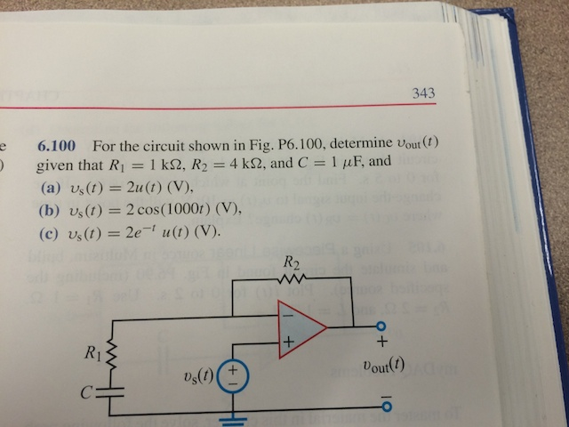 For the circuit shown in Fig. P6.100, determine vo