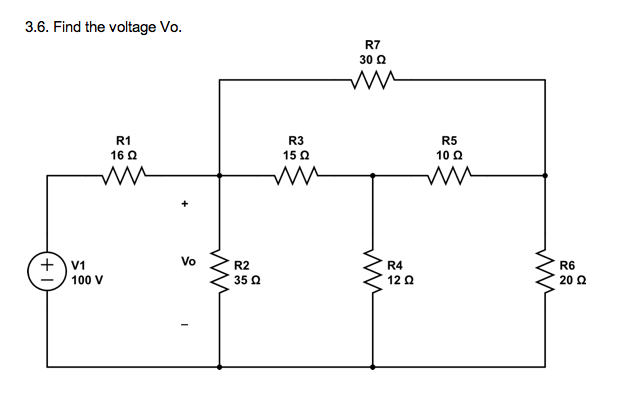 Find the voltage Vo.