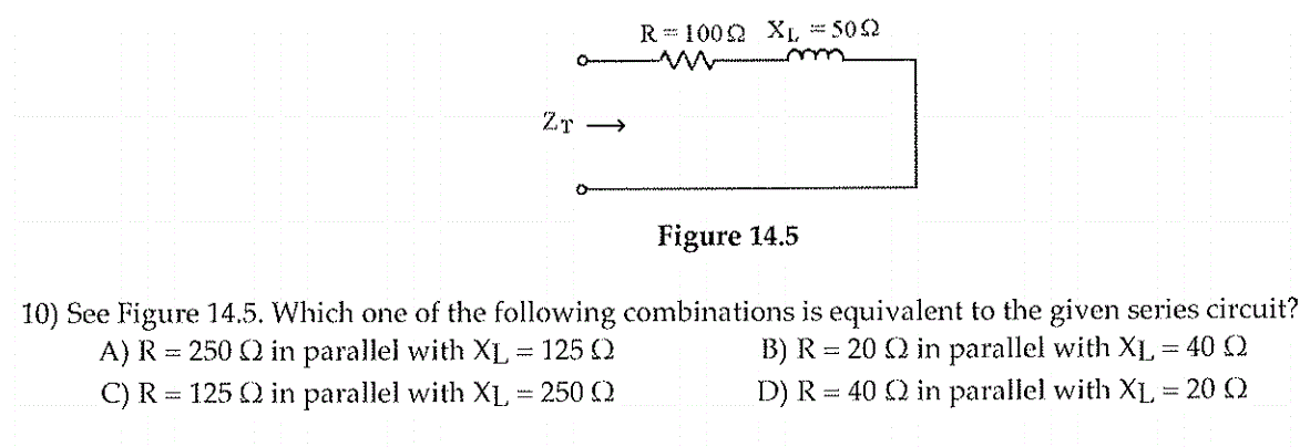 See Figure 14.5. Which one of the following combin