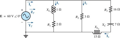 Find the total impedance ZT and admittance YT Fin