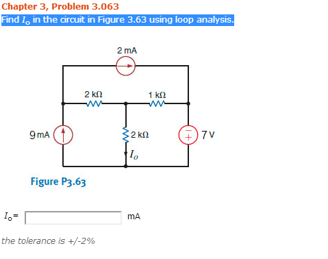 Find Io in the circuit in the Figure 3. 63 using l