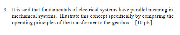 It is said that fundamentals of electrical systems