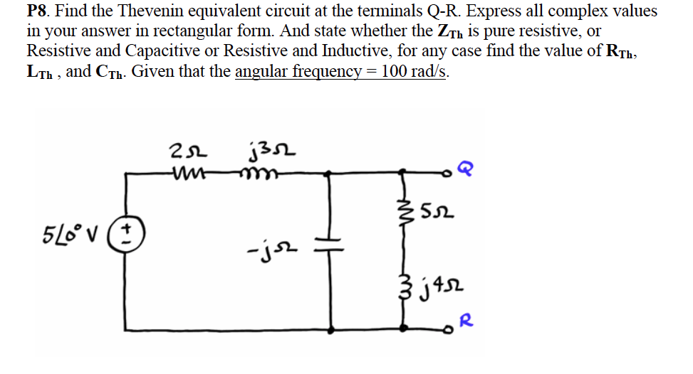 Find the Thevenin equivalent circuit at the termin