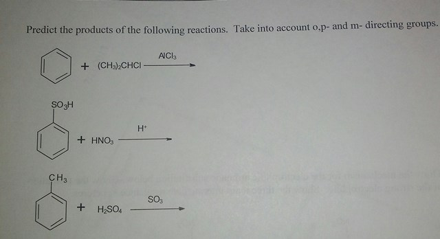Predict products of the follwing reactions. Take i
