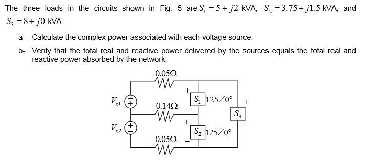 The three loads in the circuits shown in Fig. 5 ar