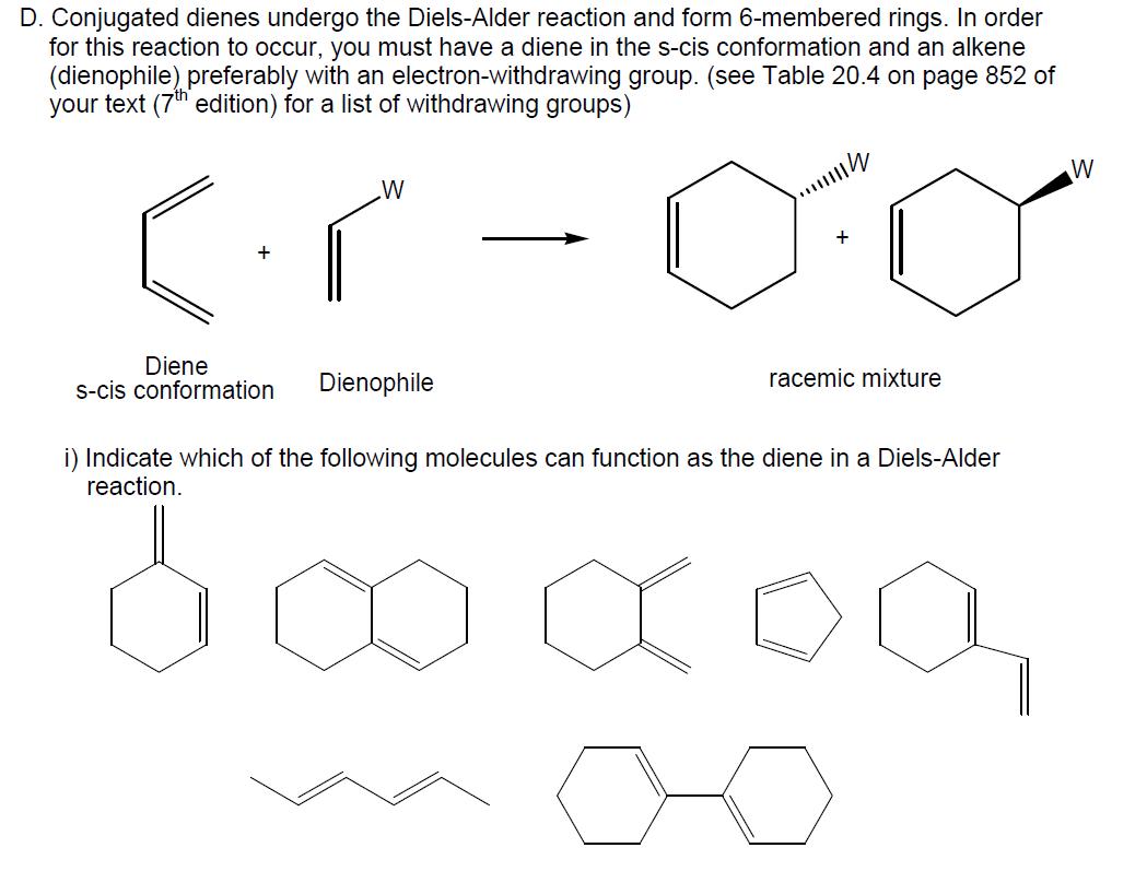 Solved Conjugated Dienes Undergo The Diels Alder Reaction border=