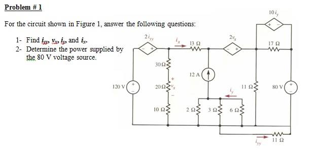 For the circuit shown in Figure 1, answer the foll