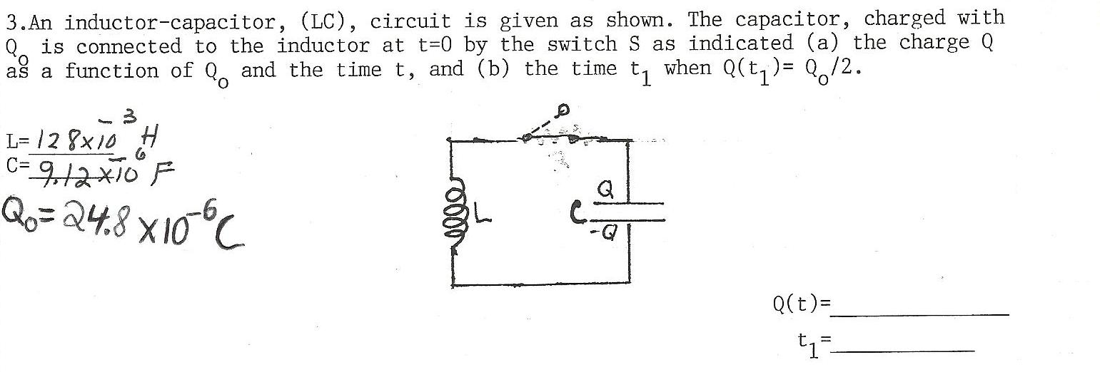 Lc Circuit Q Calculator Chapter Inductance Ppt Download Circuitlab Rlc Bandstop Filter