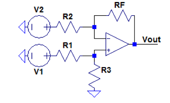 The following is a difference amplifier. a) D