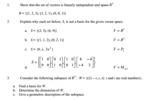 Show That The Set Of Vectors Is Linearly Independe... | Chegg.com