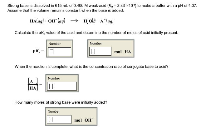 an experiment on the calculation of the dissociation constant for a weak unknown acid The extent of dissociation is indicated by the value of the acid dissociation constant, or k  a 012 m solution of unknown weak acid has a ph = 338 calculate the value of k a  graphical analysis of neutralization solution data for weak acid  in this experiment you will prepare several neutralization solutions using known amounts of a.