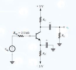 In the circuit of the figure, vsig is a small sine