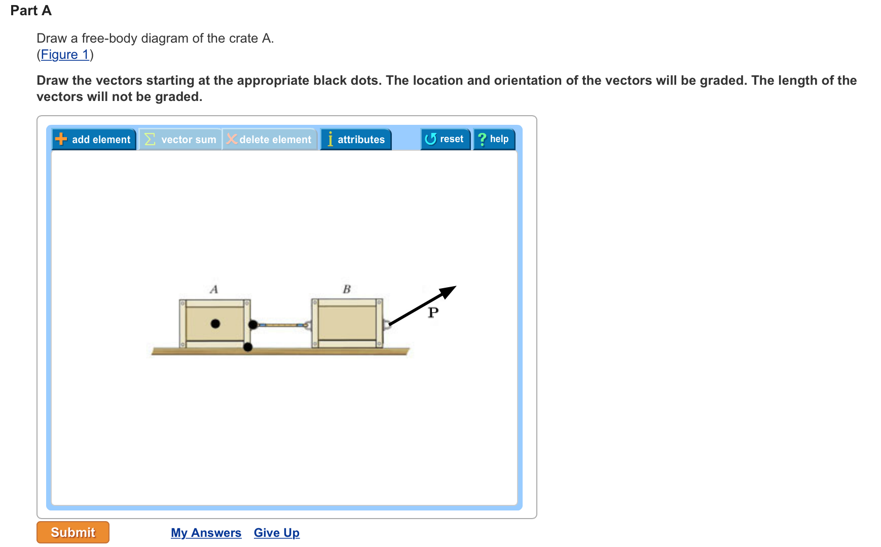 Part A Draw A Free-body Diagram Of The Crate A. Dr... | Chegg.com