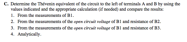 Determine the equivalent of the circuit to the le