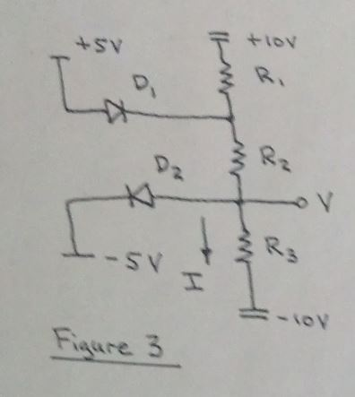 Find the voltage V and current I with R1=4kOhm, R2