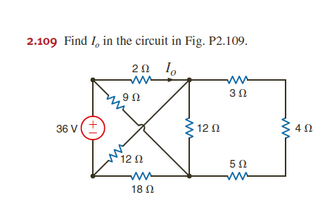Find I0 in the circuit in Fig. P2.109.