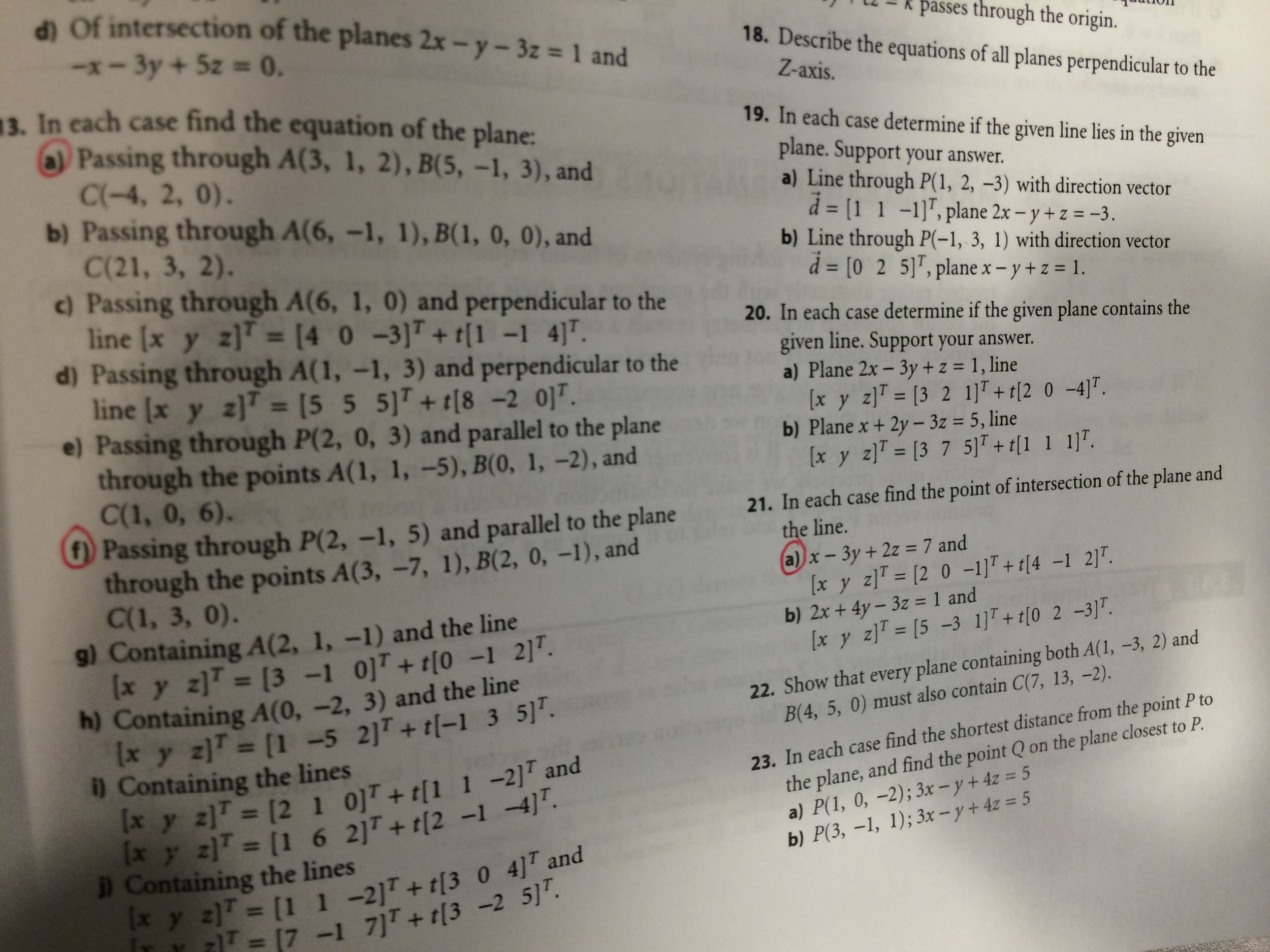 how to find the general equation of a plane