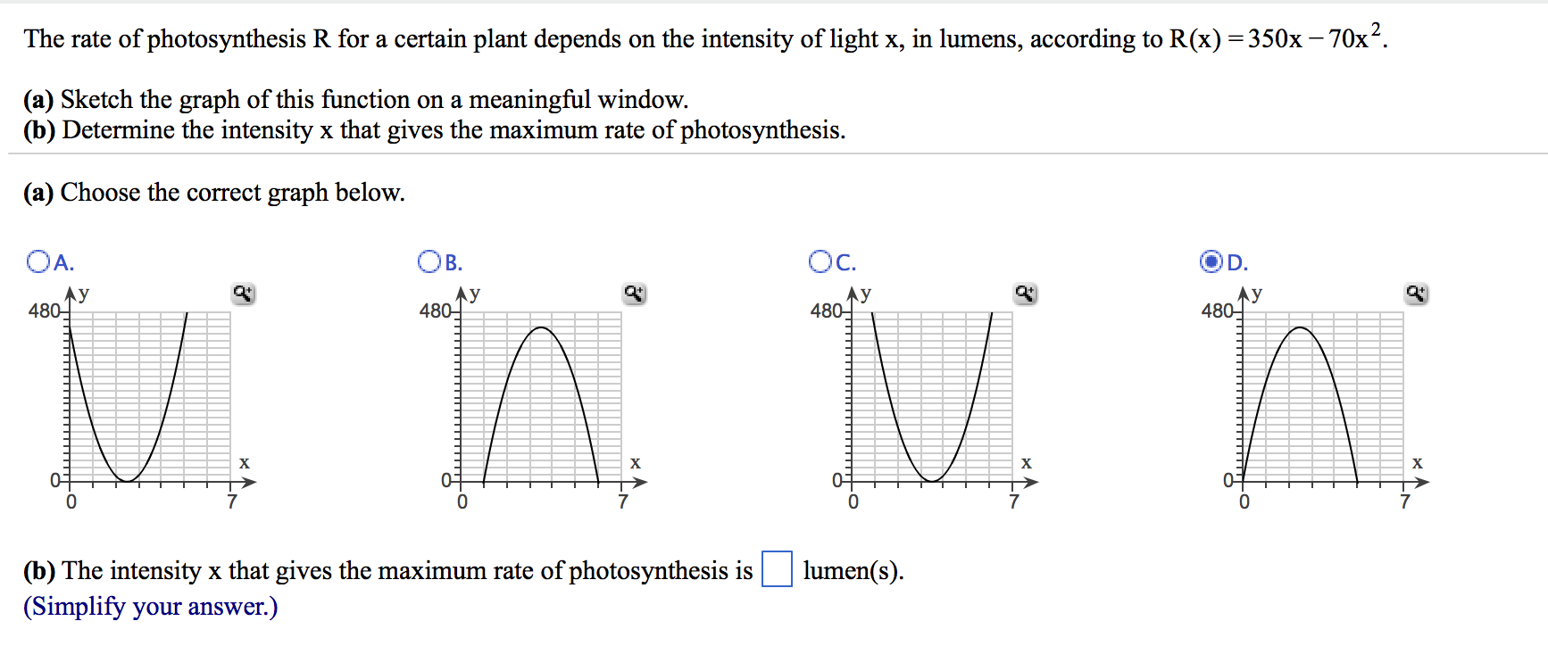 photosynthesis homework help the rate of photosynthesis r for a certain plant d chegg com the rate of photosynthesis