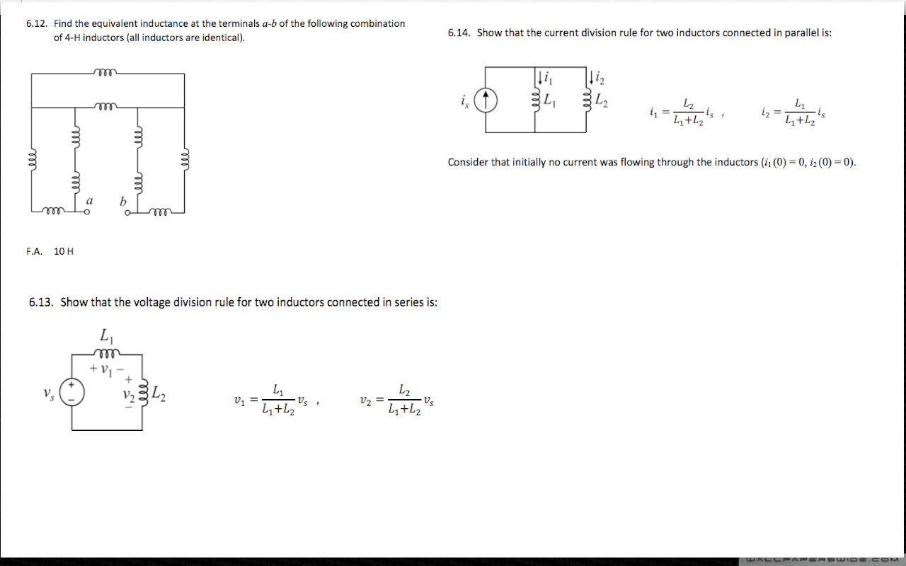 Find the equivalent inductance at the terminals a-