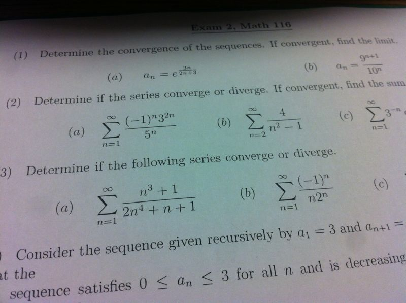 how to find the sum of a convergent series