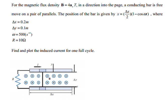 For the magnetic flux density B = 4a2 T, in a dire