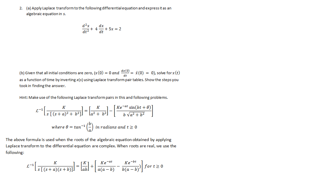 (c) Now solve the differential equation using the&
