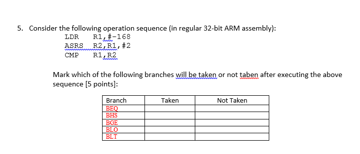 Solved: Consider The Following Operation Sequence (in Regu ...