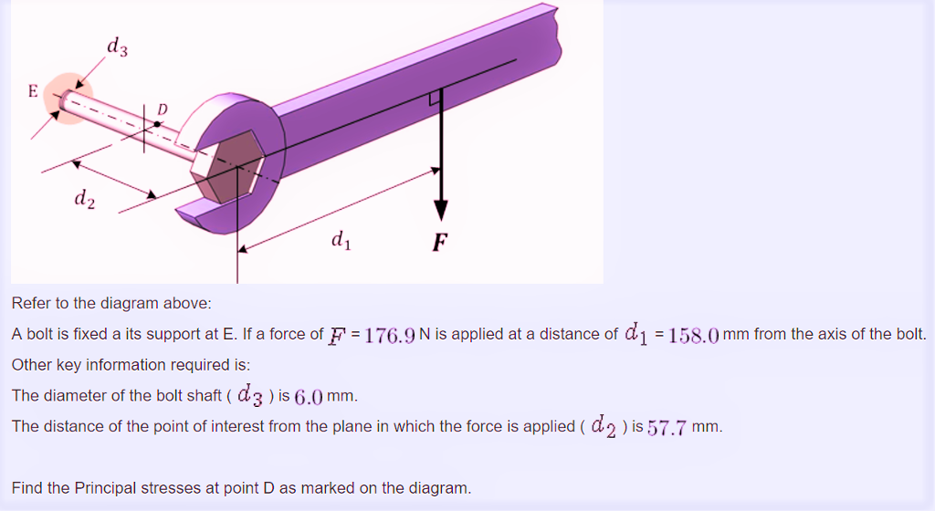 Solved  Refer To The Diagram Above  A Bolt Is Fixed A Its