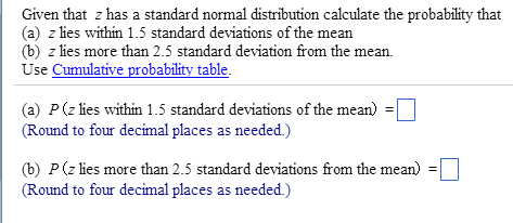 Given that z has a standard normal distribution ca chegg image for given that z has a standard normal distribution calculate the probability that a ccuart Images