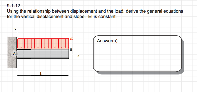 Solved: 9-1-12 Using The Relationship Between Displacement ...