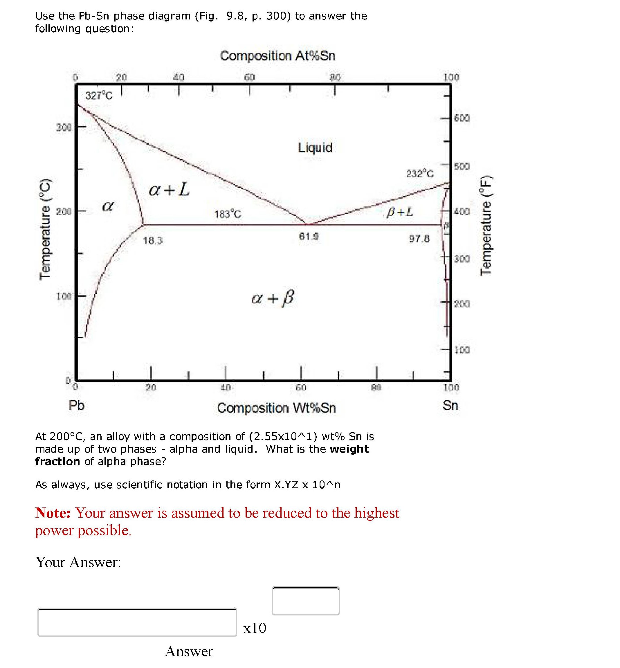 Solved use the pb sn phase diagram fig 98 p 300 to use the pb sn phase diagram fig 98 p 300 pooptronica