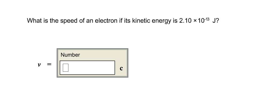 What is the speed of an electron if its kinetic en
