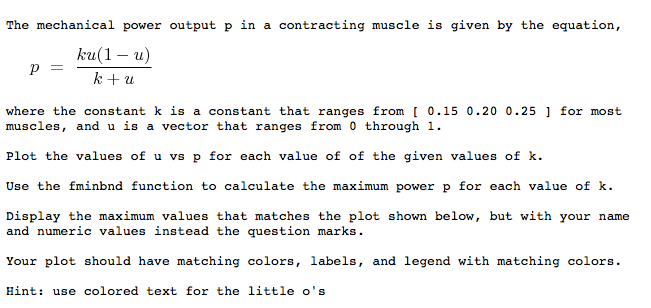 The mechanical power output p in a contracting mus chegg question the mechanical power output p in a contracting muscle is given by the equation ku1 u where the ccuart Image collections