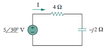 For the circuit shown below, find the average powe