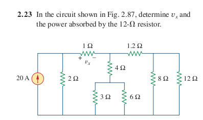 In the circuit shown in Fig. 2.87, determine upsil