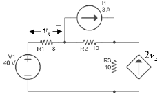 For the circuit shown below, use source transforma