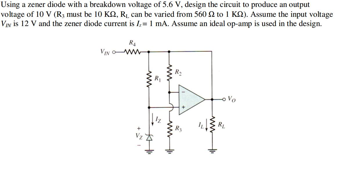 Using a zener diode with a breakdown voltage of 5.