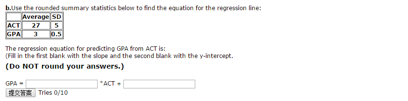 Use the rounded summary statistics below to find t chegg question use the rounded summary statistics below to find the equation for the regression line the regre ccuart Choice Image